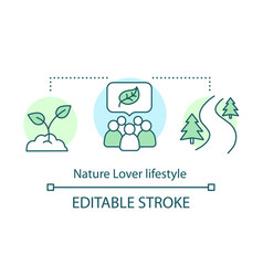 Nature lover lifestyle concept icon environment vector