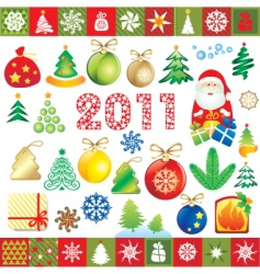 new year design elements vector image