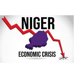 Niger map financial crisis economic collapse vector