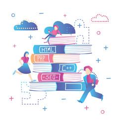 Online education learning web design coding vector