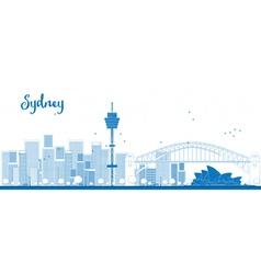 Outline sydney city skyline vector