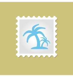 Palm stamp vector image