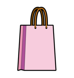 Paper bag shopping handle empty vector
