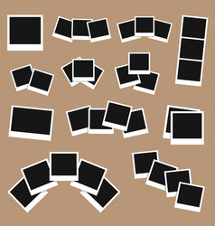 photo frames set isolated on background template vector image