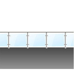 Realistic detailed 3d glass barrier modern balcony vector