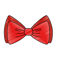 Red bowtie decorative isolated icon vector