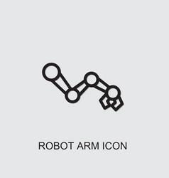Robot arm icon vector