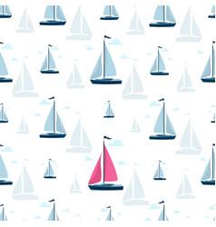 Sailboat background yacht club sailboat vector