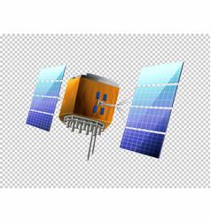 Satellite on transparent background vector