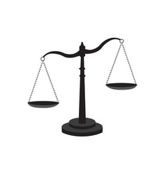 scale of justice vector image