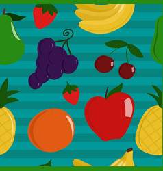 seamless pattern of healthy fruit vector image