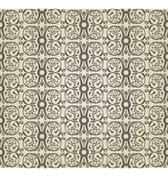seamless vintage heraldic wallpaper ornament backg vector image