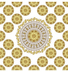 Seamless white vintage pattern vector image