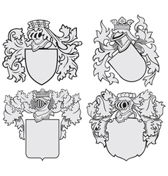 set aristocratic emblems no10 vector image