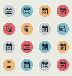 Set simple plan icons vector