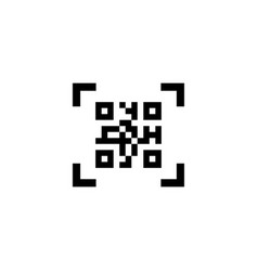 smartphone scanning qr code flat icon vector image