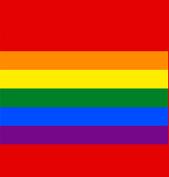 Standard proportions for gay flag vector