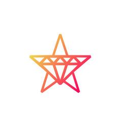 Star diamond logo icon design vector