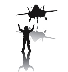 Stealth aircraft silhouette vector