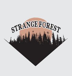 Strange forest silhouette vector