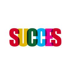 Success template design vector