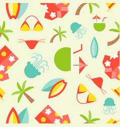 summer theme seamless pattern surfboard hawaii vector image