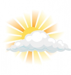 Sun and cloud illustration vector