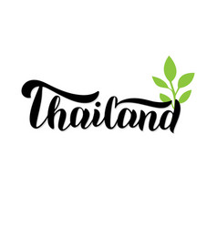 Thailand lettering text logo trendy typography vector