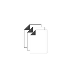 three document paper document stack copy document vector image