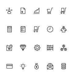 Trade Outline Icons 2 vector