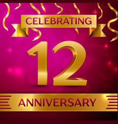 Twelve years anniversary celebration design vector
