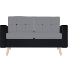 two seat couch vector image