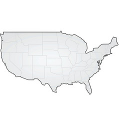 usa states border map vector image
