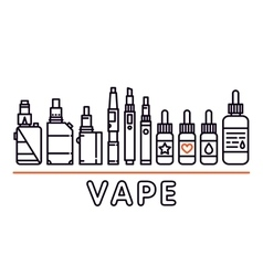 Vape shop isolated template graphic line vector