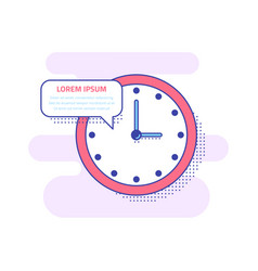 wall clock icon design vector image