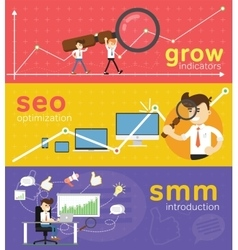 Website SMM and SEO optimization vector image