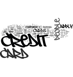 Why do people apply for credit cards text word vector