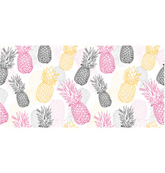 Yellow grey pink pineapple polka dot summer vector