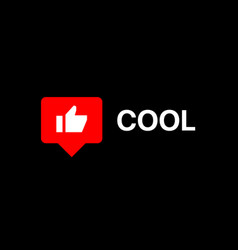 Youtube like social media reaction lower third vector