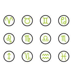 zodiac icon set vector image