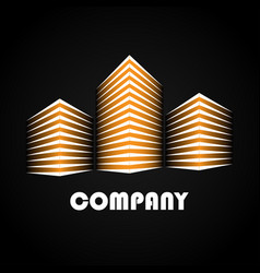 buildings company icons vector image