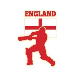 cricket batsman england vector image vector image
