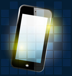 smartphone digital background vector image
