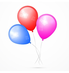 Balloons Isolated on White Background vector image vector image