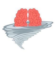 brainstorm think idea vector image