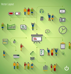 Set Of Business Icons and people vector image vector image