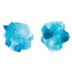 Abstract watercolor aquarelle hand drawn blue art vector image