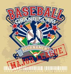 baseball grandslam league vector image