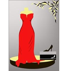 Evening Dress vector image vector image