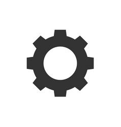 gear black icon vector image vector image